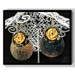 Boucles d'oreilles Bouton d'or